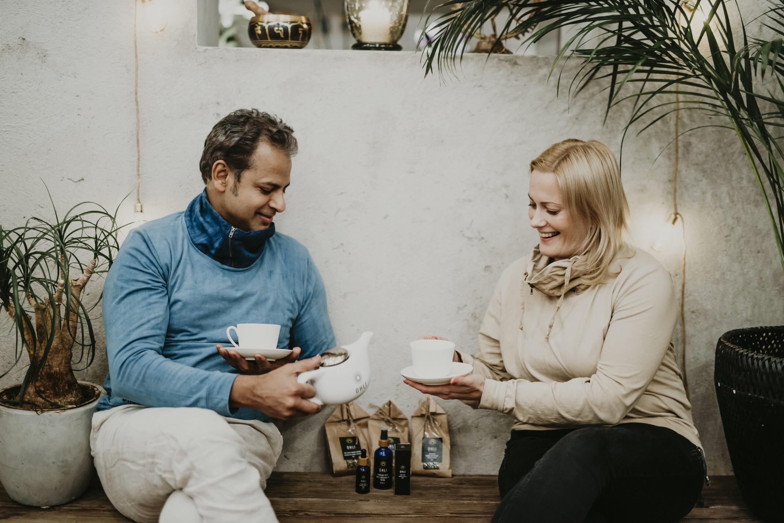 Tea keeps you warm